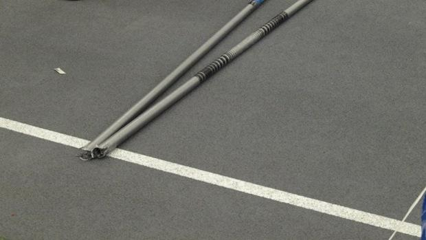 File photo, broken pole vault